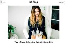 Urban Outfitters UO Blog: Hair DIY / Urban Outfitters UO Blog: Tips + Tricks - Disheveled Hair with Roma Oeh of OAK&ROMA blog.urbanoutfitters.com