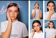 Elegant Magazine Dec Issue 19 / ELEGANT MAGAZINE December Issue 19 Fashion Editorial | photographer: Casey Fyfe | production + fashion styling: OAK&ROMA | hair + makeup: Olga Pirmatova | model: Faith Vega, Cast Images | dog: Udon Lee |