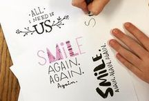 DIY... Envelopes & Typography / Beautiful calligraphy and inspirational ideas for snail mail. Love of typography