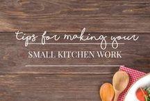 Small Kitchens / Small kitchen spaces.  Organized kitchens