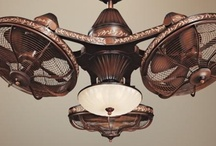 Lights, ceiling fans, fans