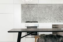 Kitchens / Innovative contemporary kitchens with a hint of timber and metallics is my favourite look. Kitchen designs.