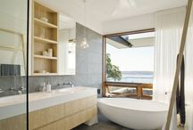 Bathrooms / My inspiration for contemporary and modern bathroom design. I love the idea of it being a retreat spa I escape to rather than just a bathroom.