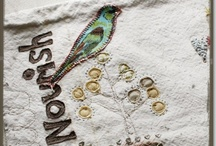 Create -Birdie Birdie / birds - both crafty and photographic, -paint -pen -paper -fabric -metal -clay -felt - stamped -collage / by Victoria Susan Leigh
