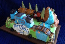 Cakes -ThomasTrain Cake Ideas / Searching for ideas for Nico's 4th Birthday Party Cake - Thomas the Train is the Theme and he wants it to be an edible exact version of Thomas -- we succeeded - Cakes by Victoria / by Victoria Susan Leigh