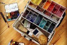 G e a r / art to go kits + travel schtuff