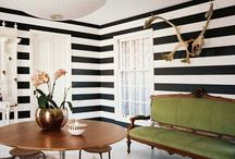 Striped Obsession / The most eye catching and jaw dropping collection of black and white stripes in home decor!