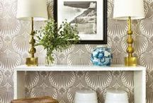 Wallpaper Inspiration / Inspiration for adorning your walls with gorgeous prints and patterns!  Wallpaper is BACK baby!
