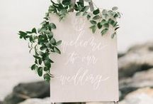 Inspiration // Paper + Calligraphy / Calligraphy wedding inspiration.