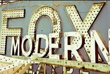 Vintage signs and graphics / by Krissy