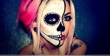 Halloween Makeup / Halloween ideas and inspiration - get creative with make up instead of paying a ton of money for a costume!