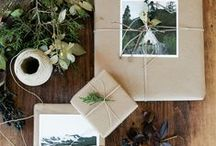 christmas / For those who dream of an old-fashioned christmas.  Evergreen, snow, and handmade ornaments