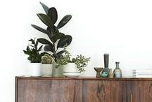 dining room / Dining space inspiration.  Simple and clean.  A little mid-century, a little boho.