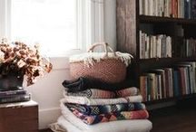 family room / Cozy, layered, eclectic, and a little boho.