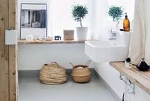 bath / Inspiration for the bath.  Simple, clean, and a little Scandinavian.