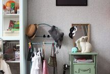 girls bedroom / Shared girl's bedrooms.  Feminine, scandi-modern with touches of vintage.