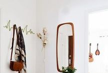 entry / Simple and functional ideas for styling a foyer or entry.