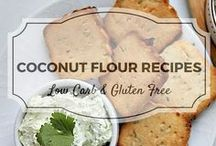 Coconut Flour Recipes / All my favourite coconut flour recipes from Divalicious Recipes plus my favourite recipes from Pinterest. Mostly low carb, clean eating, gluten free, paleo, and diabetic friendly.
