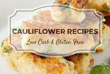 Cauliflower Recipes / All my favourite cauliflower recipes from Divalicious Recipes plus my favourite recipes from Pinterest. Mostly low carb, clean eating, gluten free, paleo, and diabetic friendly.