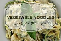 Vegetable Noodles / Oodles of vegetable noodle recipes from Divalicoius Recipes plus my favourite recipes from Pinterest.  Mostly low carb, clean eating, gluten free, paleo, and diabetic friendly.