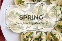Spring recipes / Low carb, gluten free & paleo springtime recipes