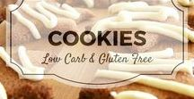 Cookie - Gluten free & Low carb / All my favourite low carb and gluten free cookie recipes from Divalicious Recipes plus my favourite recipes from Pinterest. Mostly low carb, clean eating, gluten free, paleo, and diabetic friendly.