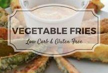 Vegetable Fries / Crispy low carb vegetable fries