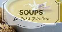Soups / All my favourite low carb and gluten free soup recipes from Divalicious Recipes plus my favourite recipes from Pinterest. Mostly low carb, clean eating, gluten free, paleo, and diabetic friendly.