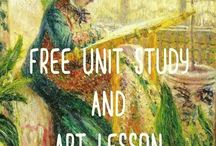Homeschool-  Art / Mostly FREE and FUN ideas for teaching art !