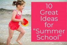 """Homeschool- Summer FUN ! / Scavenger hunts, service project ideas, backyard games, summer recipes, ways to stay cool, travel ideas, and lots more ! Don't call it """"school""""...your kids will never know :D"""