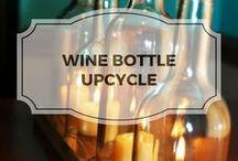 Wine Bottle Upcycle / Reuse empty wine bottles for household decor.