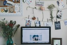workspace / Desk and workspace styling ideas.