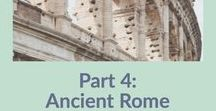 Homeschool- Ancient Rome / All the BEST ideas to make Ancient Rome come to life !