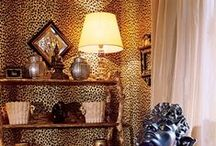 L E O P A R D, etc / Rooms with a touch of leopard.