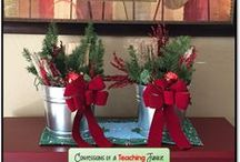 Christmas ideas / Christmas crafts, art, gift ideas, and classroom ideas for the month of December