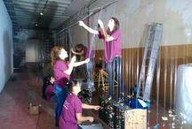 Making-of / Trabajando en las exposiciones y talleres.