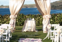Wedding Ceremony / Wedding ceremony decor ideas,  canopies, chuppahs, seating, layout and more. / by Camille Barnes