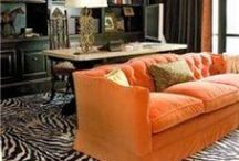 O R A N G E / Rooms predominantly orange or maybe just a tinge.