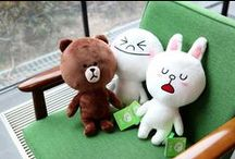 Brown & Cony! / my fave super cute Naver LINE characters!!