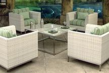 Ebel Patio Furniture / Do you recall the wicker furniture sets at your grandparent's house, either placed outside on a porch or in the garden?  Ebel captures this traditional look with their line of all weather wicker patio furniture
