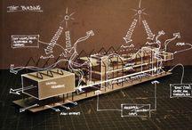 Ilustraciones, collage de arquitectura