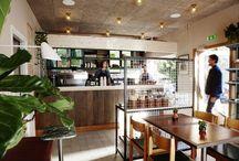Coffeeshops and restaurants