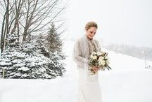 Winter Wedding Inspiration / We love hosting winter weddings at Crystal Mountain!