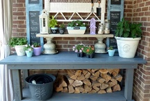 Oppottafels - potting benches / Doe inspiratie op met deze prachtige oppottafels - Get inspired with these wonderful potting benches