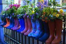 DIY upcycle plantenbakken / Van bestaande producten kan je originele bloempotten, bakken en vazen maken.