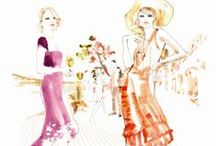 Sara Singh for LILLET / Illustrator Sara Singh's strikingly fluid watercolor and ink drawings have made their mark on the fashion world, appearing everywhere from international editions of ELLE and The New York Times to publications for such adoring clientele as Jil Sander and Givenchy. Recently, however, the Stockholm-bred, New-York based artist has lent her unique aesthetic to a decidedly different project: The illustration of our aperitif Lillet.