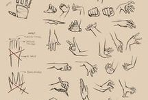 Drawing hands and arms