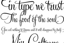 Of Fine Fonts, Lettering & Patterns / Fonts, type, lettering and patterns to inspire you