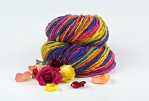 Beautiful Handspun Yarns! / I love crocheting and making jewelry that's crocheted combined with my polymer clay embellishments! Hand spun yarns are so inspiring to work with! / by Deidre Dreams