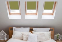 Skylights / Options for Velux and roof skylight window covering and shade options.  / by Annie Hall